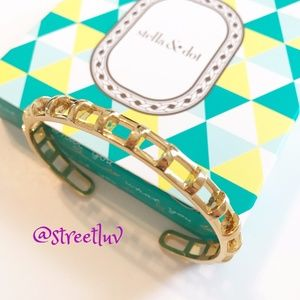 stella & dot ~ gold cage cuff bracelet